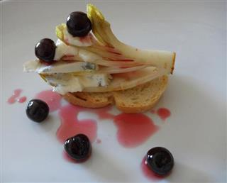 Belgian Endive, Blue Stilton and Fabbri Amarenas
