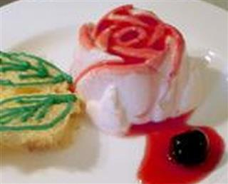 Yogurt and Amarena roses
