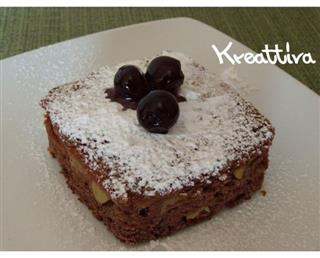 Light chocolate and amarena egg-free cake