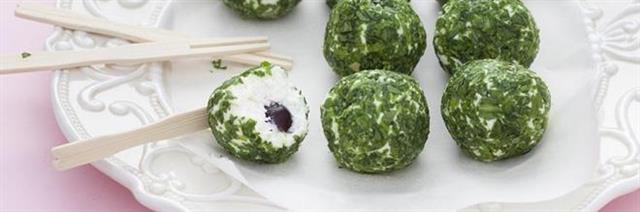 Little Goat's Cheese and Rocket Truffles with an Amarena Surprise