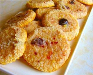 Coconut and Amarena Biscuits