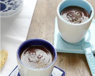 Individual Ginger Hot Chocolate with a Surprise!
